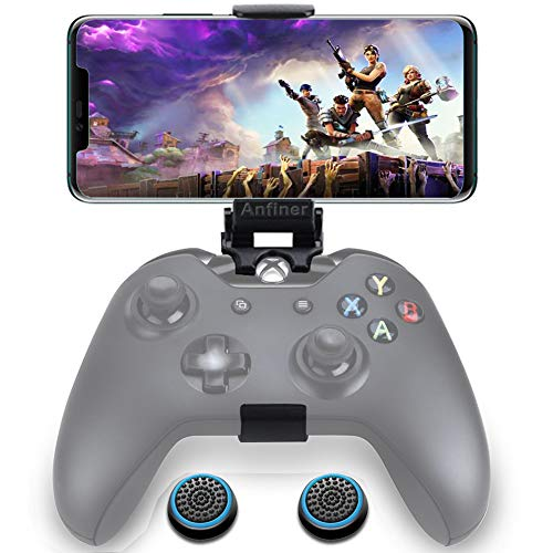 Anfiner Foldable Controller Mobile Phone Holder/Cellphone Clamp/Clip Compatible with Microsoft Xbox One/Xbox One S/Steelseries Nimbus/SteelSeries Stratus XL/Steam Controllers(Controller not Included) (Best Steam Games For Macbook Pro)