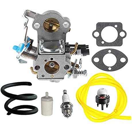 HIPA WTA 29 Carburetor With Fuel Line Filter Spark Plug For Husqvarna 455E 455 Rancher 460 461 Gas Chainsaw