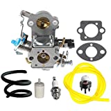 HIPA WTA-29 Carburetor with Fuel Line Filter Spark Plug for Husqvarna 455E 455 Rancher 460 461 Gas Chainsaw