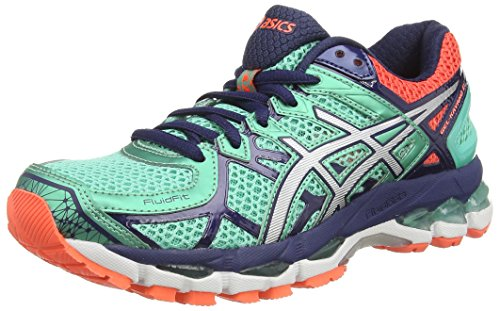 ASICS Gel-Kayano 21 - Zapatillas de Running para Mujer, Color Azul (Aqua Mint/Silver/Indigo Blue 7093), Talla 37: Amazon.es: Zapatos y complementos