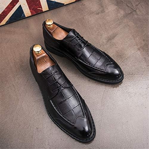 古典的な英国スタイルの通気性のグリッドパターンフォーマルシューズメンズファッションオックスフォードカジュアル 快適な男性のために設計