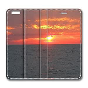 iPhone 6 Leather Case, Personalized Protective Flip Case Cover Sunset Bushehr 3 for New iPhone 6