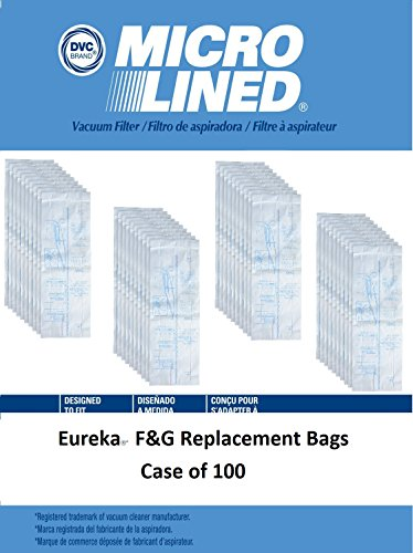 DVC Micro-Lined DVC Created Eureka Style F&G Vacuum Cleaner Bags. Case of 100 by DVC Micro-Lined