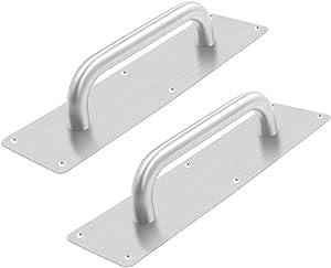 BTMB Stainess Steel Door Handle Pull Plate Commercial Door Handle,Pack of 2 (299x80mm/11.77''x3.15'')