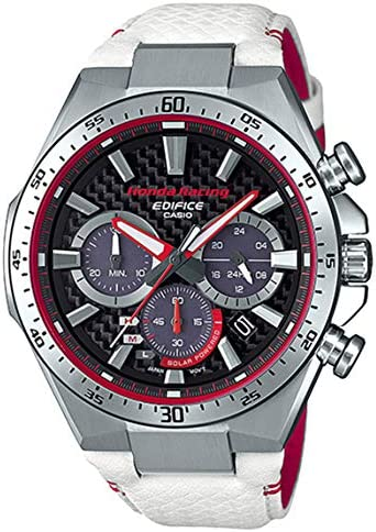 Casio Edifice Limited Edition Honda Racing White and Red Watch EQS-800HR-1A