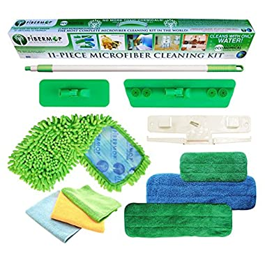 Fibermop 11 Piece Wet/Dry Microfiber Cleaning Kit