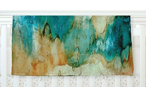 KESS InHouse Rosie Brown Waterfall Teal Blue Fleece Baby Blanket 40 x 30 [並行輸入品]   B077ZHBN2B