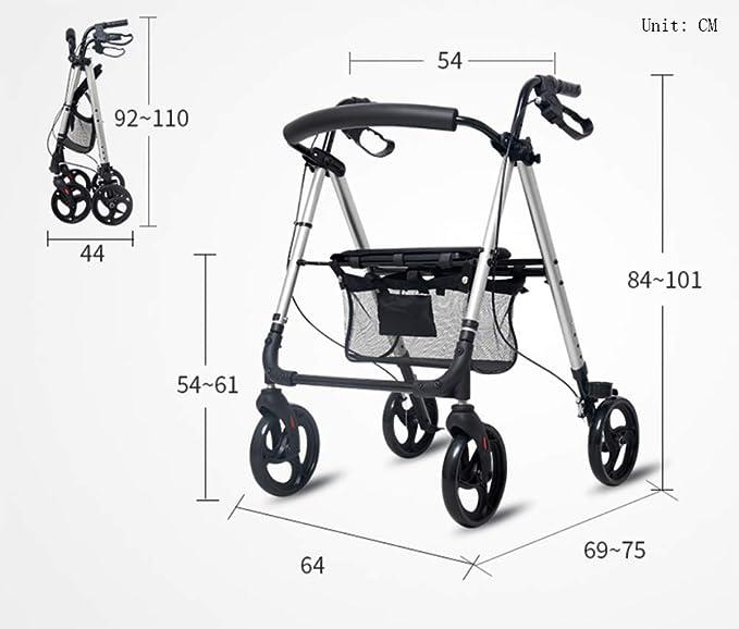 XYLUCKY Andador de Aluminio liviano, Andador Ajustable con ...
