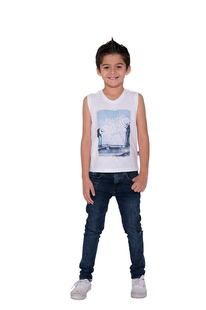 Pulla Bulla Little Boy Sleeveless Shirt Graphic Tank Top B34751