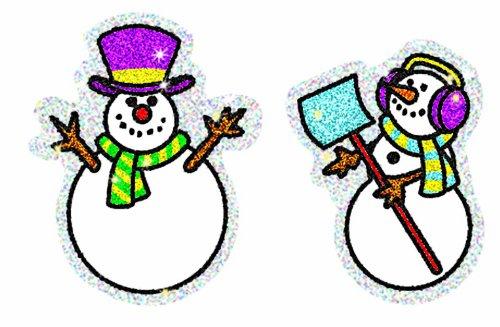 2926 Carson Dellosa Snowmen Dazzle Stickers Carson-Dellosa EDRE15835