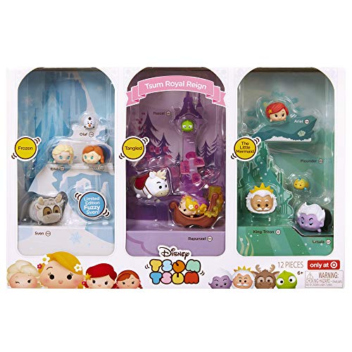 Disney Tsum Tsum Royal Reign Exclusive 12pc Set (The Little Mermaid Tsum Tsum)