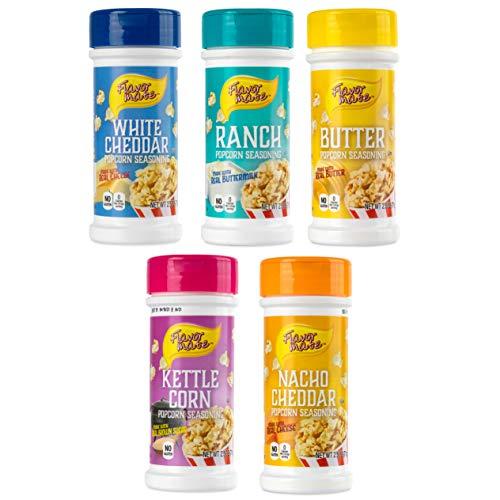 Flavor Mate Popcorn Seasoning 2.5 OZ Variety Pack, 5 Count