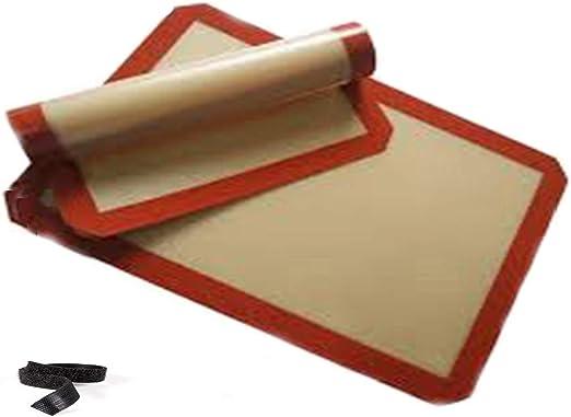 Alfombrilla de cocina de silicona: fácil de limpiar, sólida, de calidad profesional, se ofrece un velcro, estera de cocina de silicona fácil de almacenar Es ideal para cocinar, 2 piezas (40*30 cm: