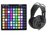 Novation LAUNCHPAD S MK2 MKII MIDI USB RGB Controller Pad+Studio Headphones+Case