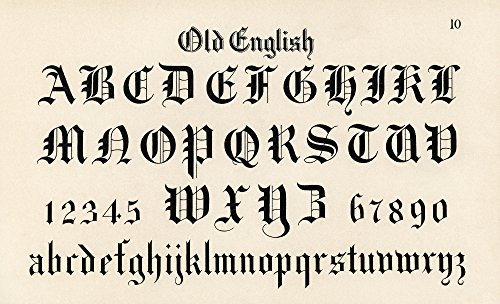 Typography Poster - Old English Font by Hermann Esser 15