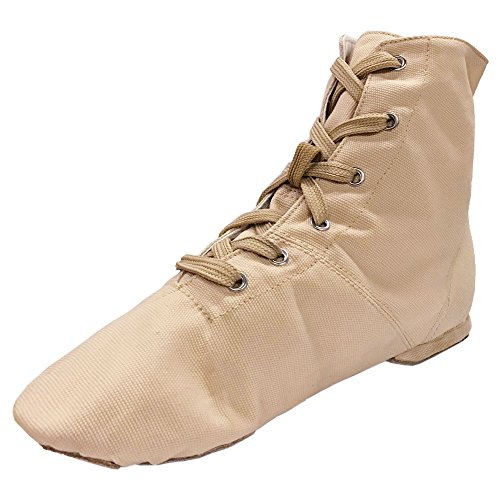 Danzcue Jazz Boot Womens Lace M Canvas Shoes Flesh up US 9 rawrXgqY