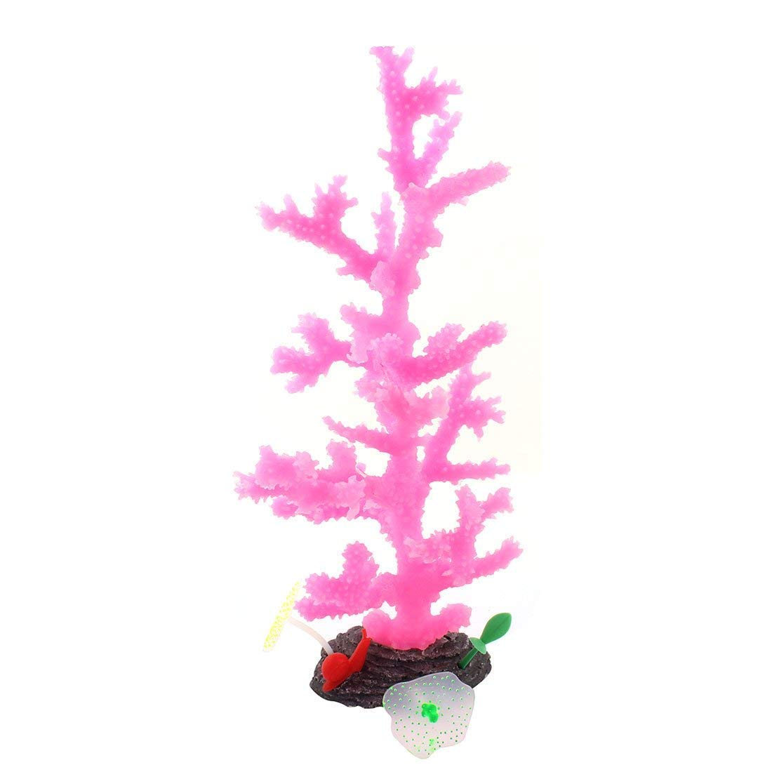 1Pc Silicone Aquarium Fish Tank Artificia Coral Aquascaping Fluorescent Tree Plant Purple