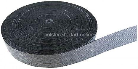 Polster Gurte Polyester Unelastisch Schwarz Meterware