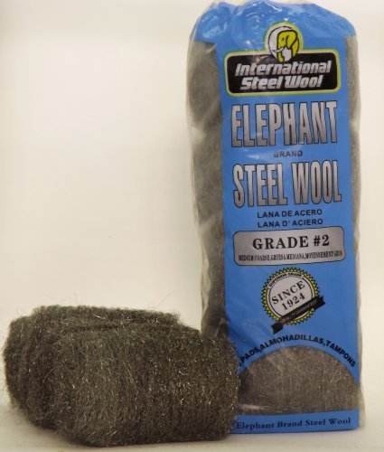 #2 Steel Wool Hand Pads, Case of 12 by International Steel Wool by International Steel Wool (Image #1)