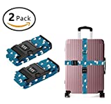SWEET TANG Luggage Straps Suitcase Belts Travel Bag Accessories 2Pack, Penguin Atlantic
