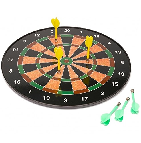 18' Official Size Magnetic Dartboard With 6 Darts Included Child Kids Dart...