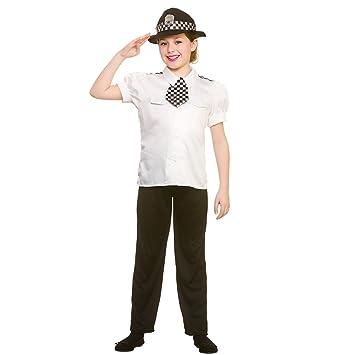 Kids Girls Policewoman Medium Fancy Dress Costume  sc 1 st  Amazon UK & Kids Girls Policewoman Medium Fancy Dress Costume: Amazon.co.uk ...