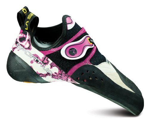 La Sportiva Solution Climbing Shoe - Women's White/Pink 35.5 by La Sportiva