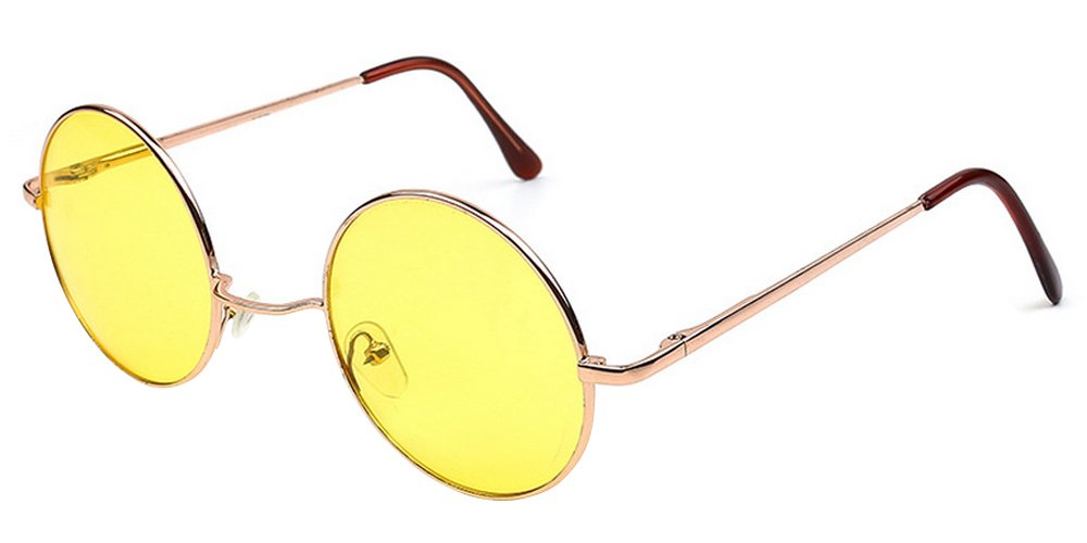 XFentech Retro runde Sonnenbrille Cyber Goggles Steampunk Punk ...