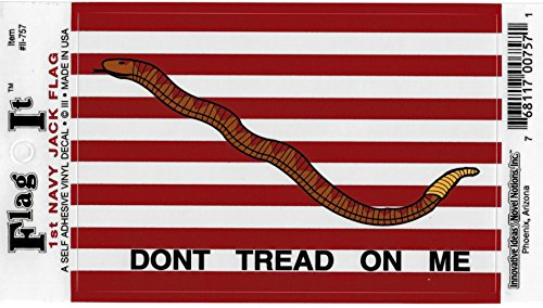 (1st Navy Jack Dont Tread On Me Flag Car Decal Sticker [3.5x5