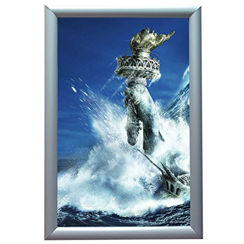 Glazed Aluminum - Aluminum Snap Frame for Poster 11 x 17 Inches, 25mm Profile, Color Silver