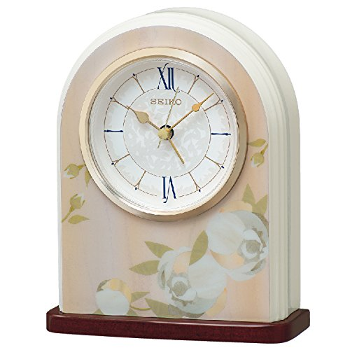 Seiko Plastic Desk Clock (17 cm x 13.5 cm x 5.3 cm, Ochre, QXE055PN)