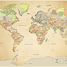 Amazon adventure awaits travel cork board inspiration travel sale push pin world map travel map with pins paper anniversary 24 x gumiabroncs Image collections