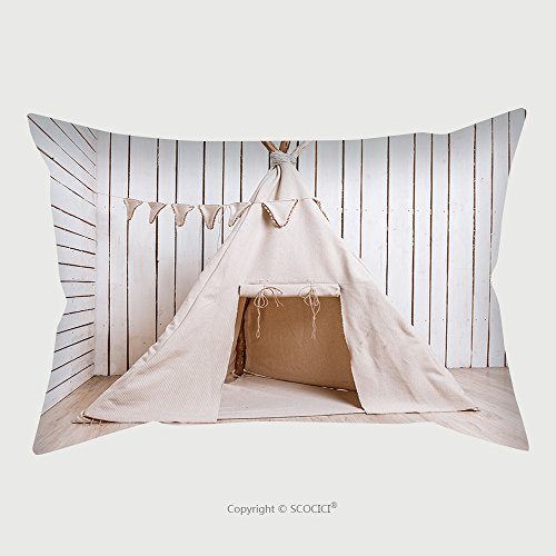 Custom Satin Pillowcase Protector Wigwam For Children In A Room With Wooden Planked Walls 354383213 Pillow Case Covers Decorative by chaoran