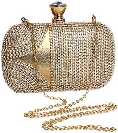 レディースラインストーンイブニングクラッチ、小銭入れ、レディースドレストート、スクエアバッグ、(カラー:ゴールド)絶妙な縫製 美しいファッション