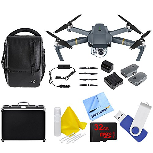 Fly Helicopter Kit (DJI Mavic Pro Fly More Combo Expedition Kit (CP.PT.000642) with 3 Battery, Charging Hub, Car Charger, Custom Fit Hard Case, 16GB Flash Drive, 32GB Memory Card, And Cleaning Kit)