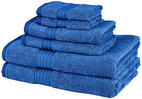 Pinzon 6-Piece Two-Tone Towel Set - Blue