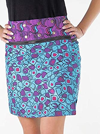 Paquete falda R?versible? Cremallera, color turquesa lila – Margot ...