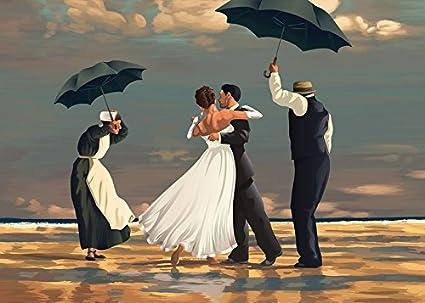 45bf4d27971 The Singing Butler Jack Vettriano Umbrella Love Dancing Beach Rain Art Print  Poster Wall Decor For