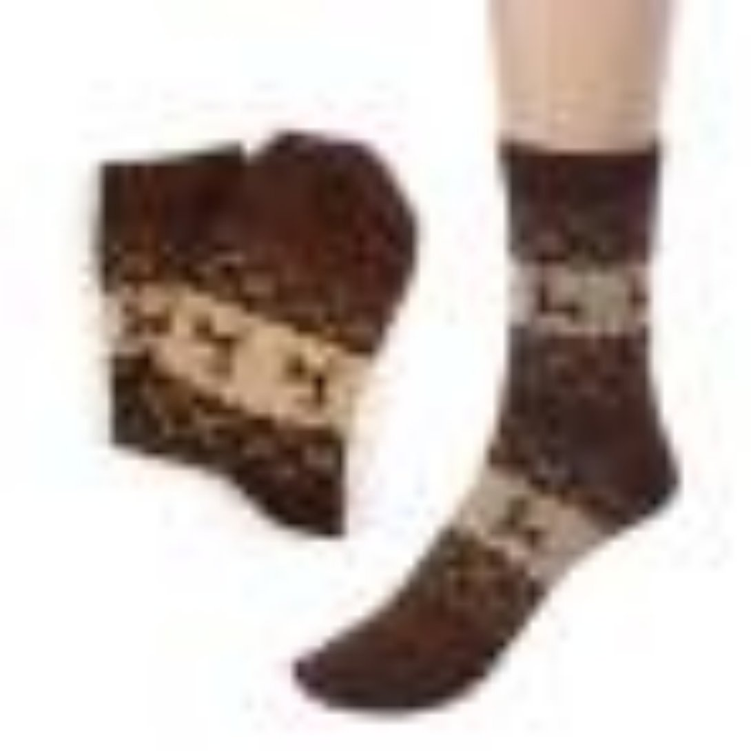 Wensltd Clearance! Unisex Winter Christmas Reindeer Knit Wool Socks WSM4110101A_JJR