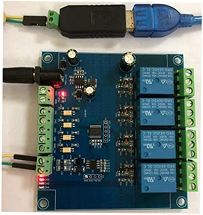 TaoToa Modbus RTU 4 Relaismoduleingang 485 TTL-Kommunikation 4-Kanal Eingang 7-24V Relaismodul