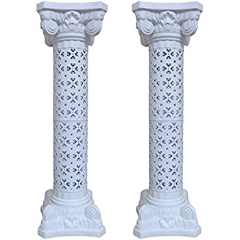 This Item Wedding Decoration Plastic Roman Column Height Adjustable Garden  Decor Ceremony Reception Decorative Columns (2 Column Set)