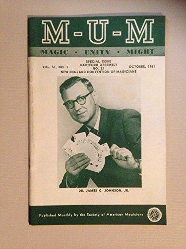 M-U-M Magic Unity Might, Volume 51, No. 5, October 1961