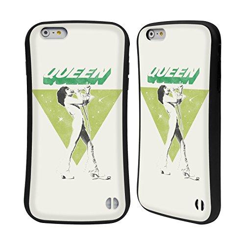 Officiel Queen Freddie Mercury Art Clé Étui Coque Hybride pour Apple iPhone 6 Plus / 6s Plus