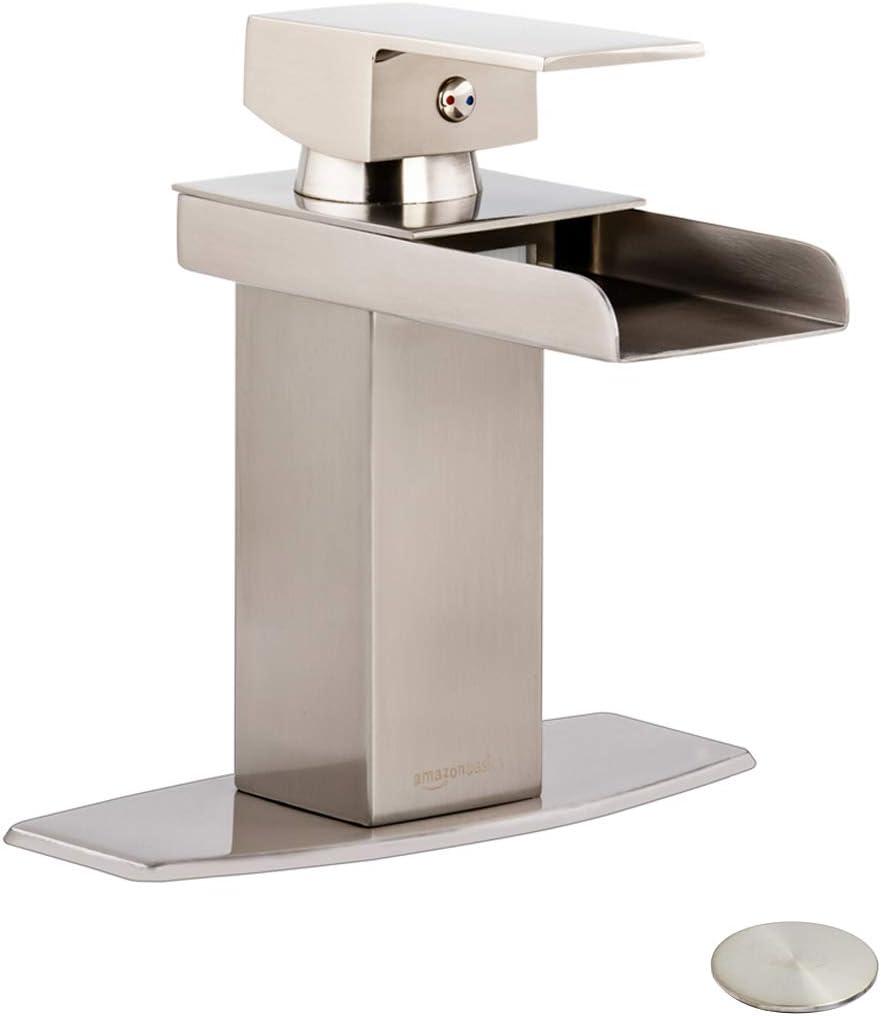 AmazonBasics AB-BF600-SN Bathroom faucet, Satin Nickel