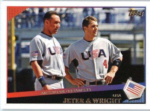 - Derek Jeter - David Wright (Classic Combo) TEAM USA - 2009 Topps Update Baseball Card # UH17 - MLB Trading Card
