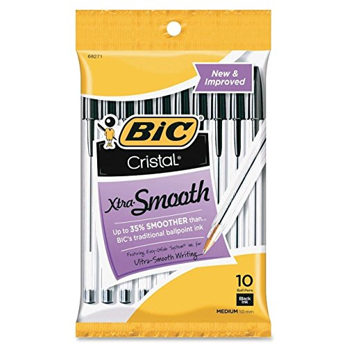 BIC Round Stic Xtra Life Ball Pen, Medium Point (1.0 mm), Black, Total: 60 Pens (6 X 10 Count Packs)