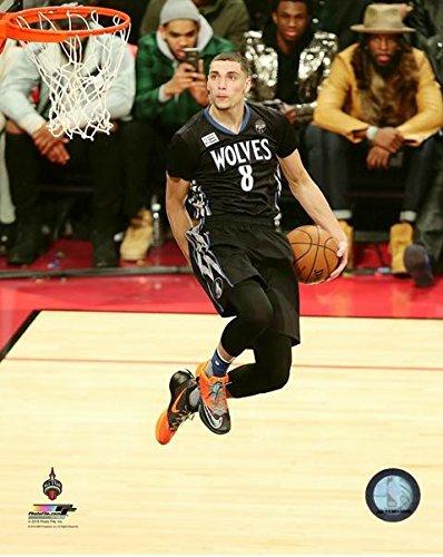 Zach LaVine Minnesota Timberwolves NBA Slam Dunk Contest Photo (Size: 8