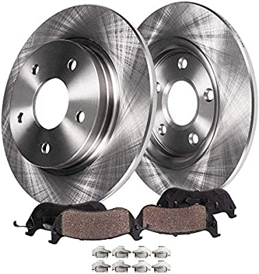 2010 2011 2012 for Chevrolet Malibu Brake Rotors and Pads 296mm Rotors Front
