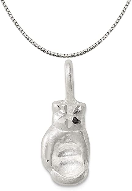 16-20 Heart Mireval Sterling Silver Antique I Basketball Charm on a Sterling Silver Chain Necklace