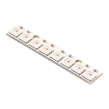 Black 8 Kanal WS2812 5050 RGB 8 LEDs Light Strip Driver Tafel for Arduino